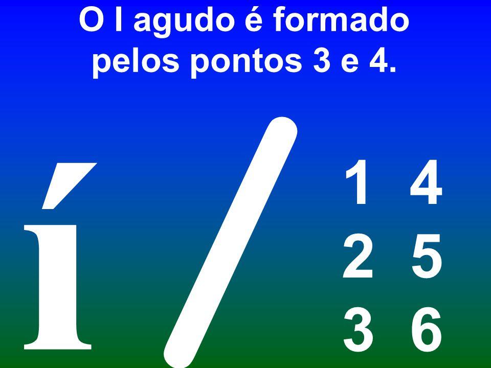 O I agudo é formado pelos pontos 3 e 4. 1 4 2 5 3 6 / í