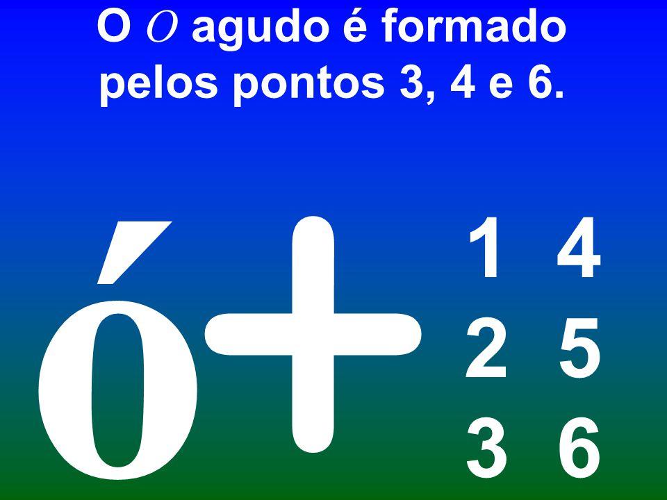O O agudo é formado pelos pontos 3, 4 e 6. 1 4 2 5 3 6 + ó