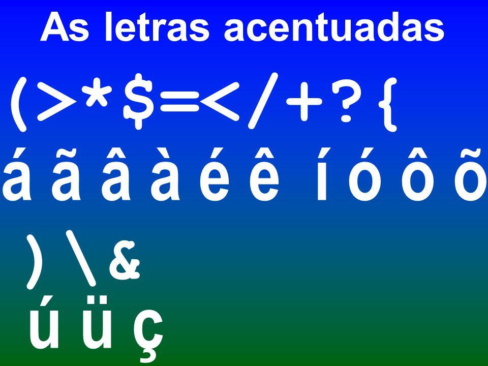 O U agudo é formadop elos pontos 2, 3, 4, 5 e 6. 1 4 2 5 3 6 ) ú
