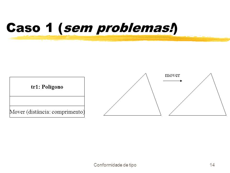 Conformidade de tipo14 Caso 1 (sem problemas!) tr1: Polígono Mover (distância: comprimento) mover