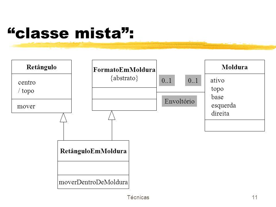 Técnicas11 classe mista: Retângulo centro / topo mover FormatoEmMoldura {abstrato} Moldura ativo topo base esquerda direita 0..1 Envoltório RetânguloE