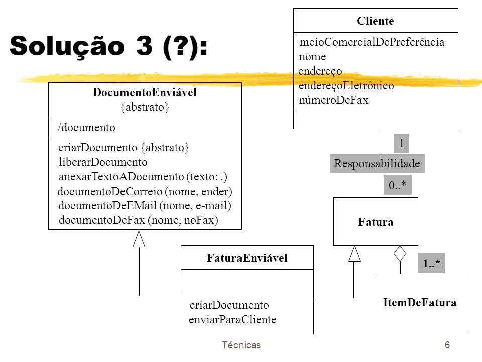 Técnicas7 faturaEnviável.criarDocumento public operation criarDocumento begin self.liberarDocumento; obter o cabeçalho da fatura; converter para formato de texto o textoDeCabeçalho; self.anexarTextoADocumento (textoDeCabeçalho); reapeat obter a próxima linha de fatura until não mais linhas de fatura converter para formato de texto o textoDeLinha; self.anexarTextoADocumento (textoDeLinha) endrepeat end criarDocumento;
