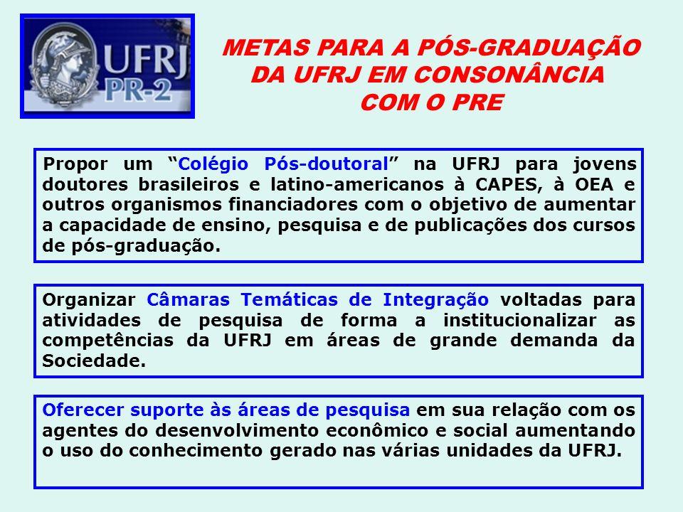 Propor um Colégio Pós-doutoral na UFRJ para jovens doutores brasileiros e latino-americanos à CAPES, à OEA e outros organismos financiadores com o obj