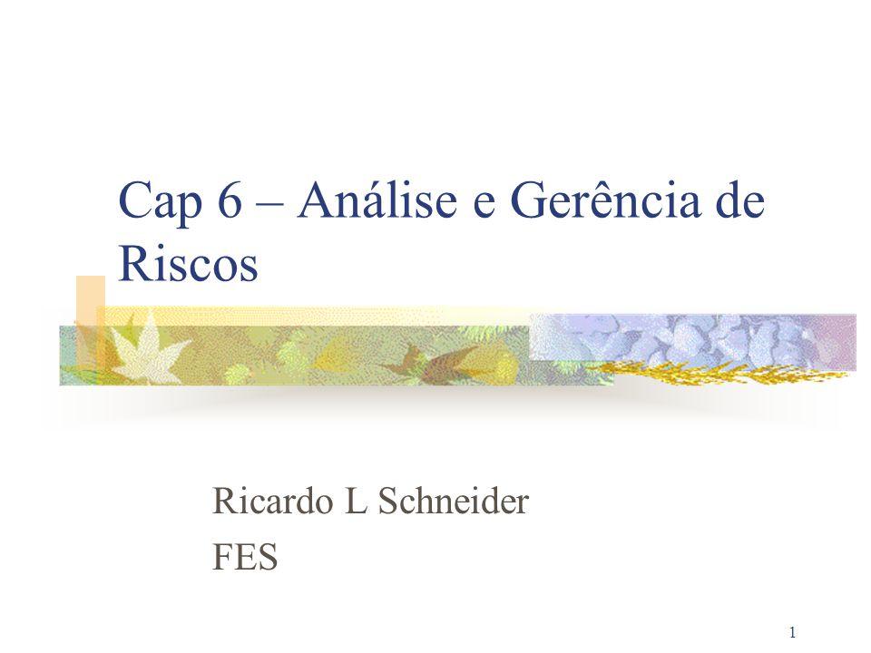 1 Cap 6 – Análise e Gerência de Riscos Ricardo L Schneider FES