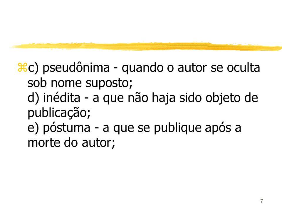 58 zCapítulo II Da Comunicação ao Público zArt.68.