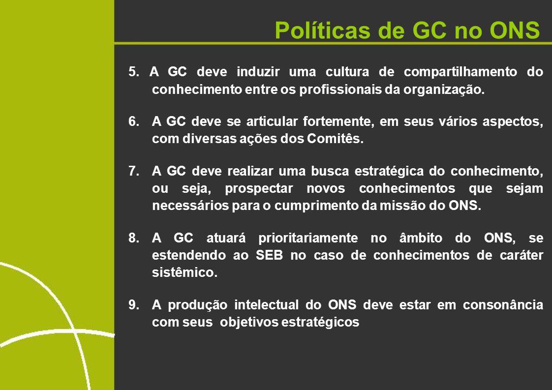 Políticas de GC no ONS 5.