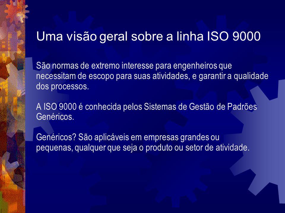 Uma visão geral sobre a linha ISO 9000 São normas de extremo interesse para engenheiros que necessitam de escopo para suas atividades, e garantir a qu
