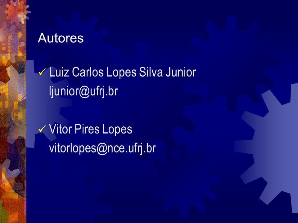 Autores Luiz Carlos Lopes Silva Junior ljunior@ufrj.br Vitor Pires Lopes vitorlopes@nce.ufrj.br