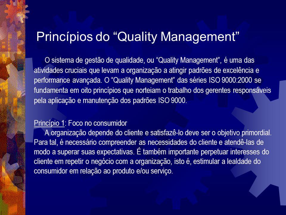 Princípios do Quality Management O sistema de gestão de qualidade, ou Quality Management, é uma das atividades cruciais que levam a organização a atin