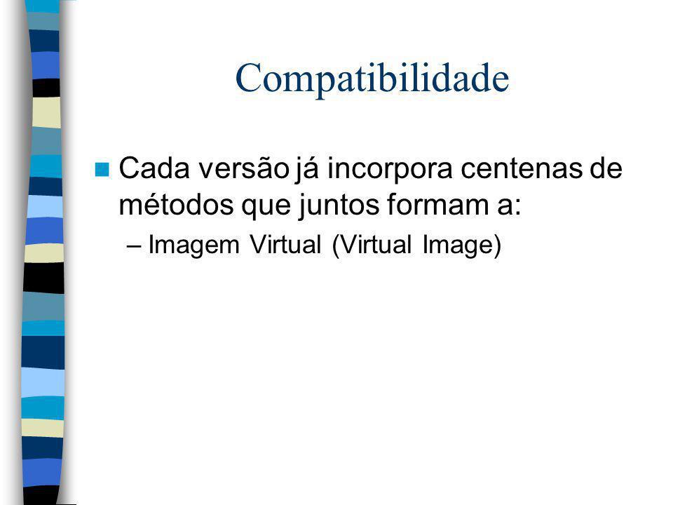 Compatibilidade Cada versão já incorpora centenas de métodos que juntos formam a: –Imagem Virtual (Virtual Image)