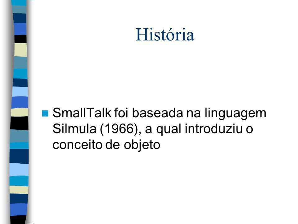 História SmallTalk foi baseada na linguagem Silmula (1966), a qual introduziu o conceito de objeto
