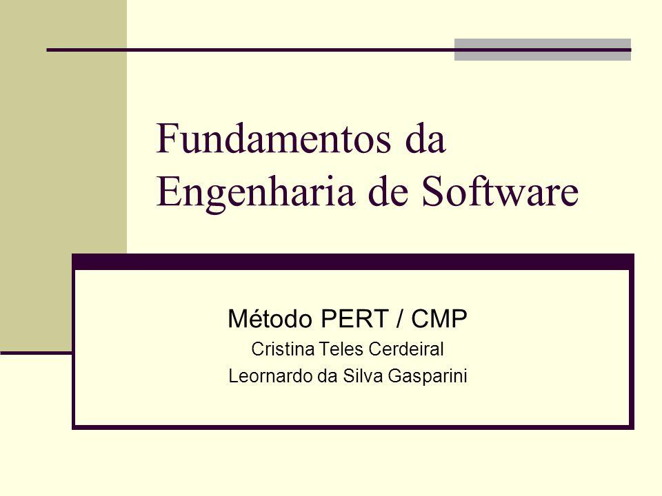 Fundamentos da Engenharia de Software Método PERT / CMP Cristina Teles Cerdeiral Leornardo da Silva Gasparini