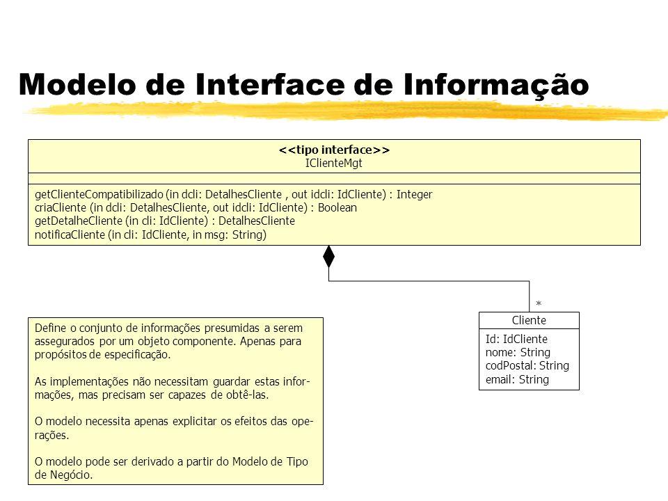 Modelo de Interface de Informação > IClienteMgt getClienteCompatibilizado (in dcli: DetalhesCliente, out idcli: IdCliente) : Integer criaCliente (in d