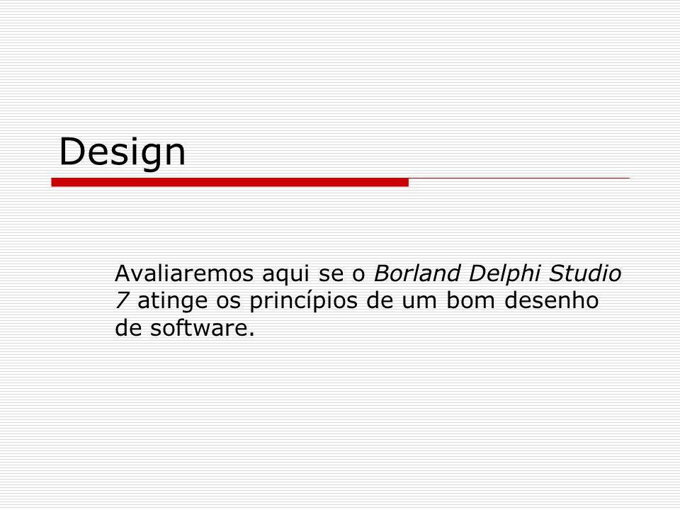 Grau de dependência e Coesão Um projetista deve procurar construir módulos de aplicação bem específica e única.