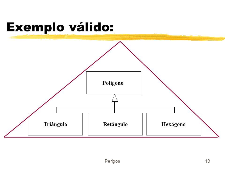 Perigos13 Exemplo válido: Polígono RetânguloTriânguloHexágono