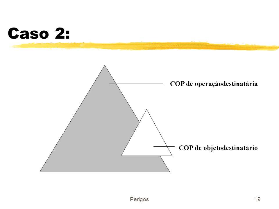 Perigos19 Caso 2: COP de operaçãodestinatária COP de objetodestinatário