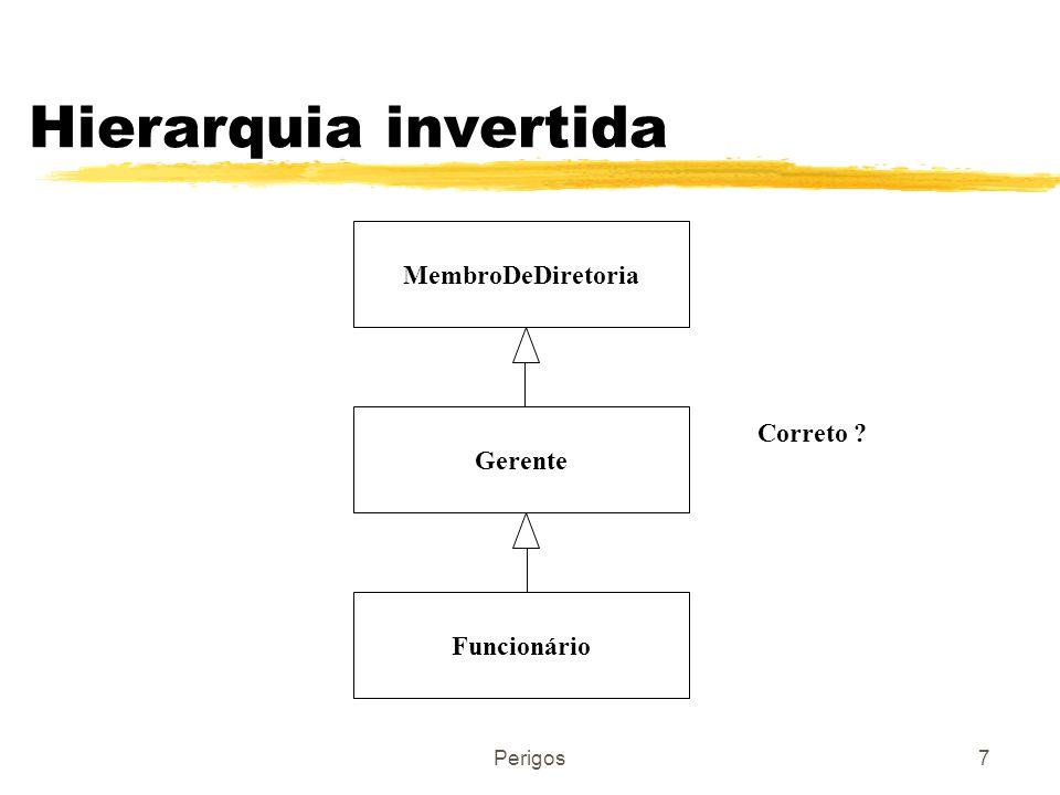 Perigos7 Hierarquia invertida MembroDeDiretoria Gerente Funcionário Correto ?