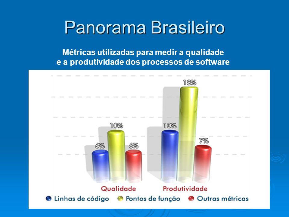 Panorama Brasileiro Métricas utilizadas para medir a qualidade e a produtividade dos processos de software
