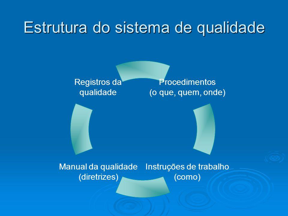 Normas da Série ISO 9000 NBR ISO 9000 NBR ISO 9000 NBR ISO 9001 NBR ISO 9001 NBR ISO 9002 NBR ISO 9002 NBR ISO 9003 NBR ISO 9003 NBR ISO 9004 NBR ISO 9004 ISO 9000-2 – Aplicação das 9001, 9002, 9003.