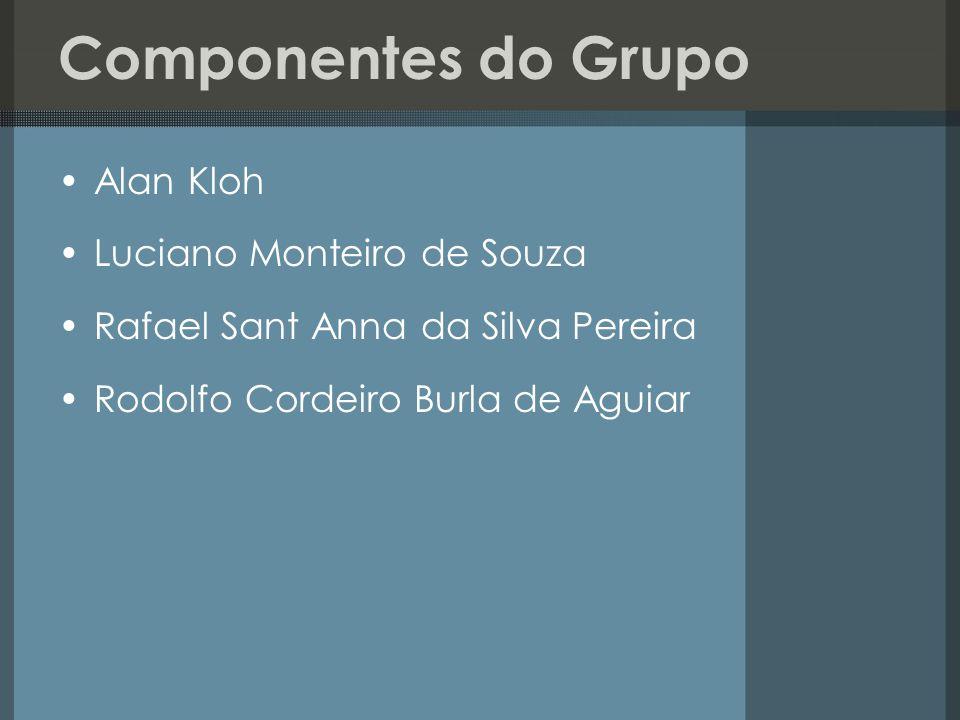 Componentes do Grupo Alan Kloh Luciano Monteiro de Souza Rafael Sant Anna da Silva Pereira Rodolfo Cordeiro Burla de Aguiar