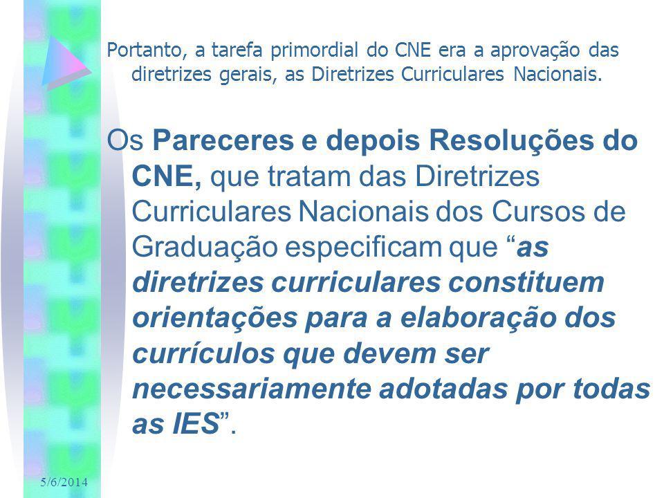 5/6/2014 Portanto, a tarefa primordial do CNE era a aprovação das diretrizes gerais, as Diretrizes Curriculares Nacionais. Os Pareceres e depois Resol