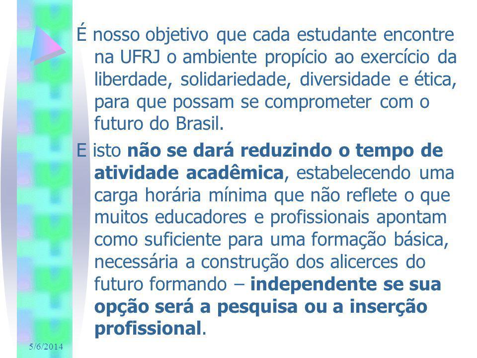 5/6/2014 É nosso objetivo que cada estudante encontre na UFRJ o ambiente propício ao exercício da liberdade, solidariedade, diversidade e ética, para que possam se comprometer com o futuro do Brasil.