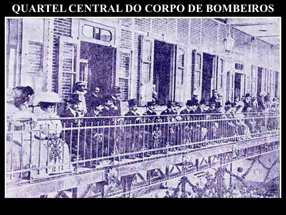 Inaugura-se renovado, melhorado, ampliado, no mesmo lugar – Campo de Santana – o Quartel Central do Corpo de Bombeiros, com 14.800 m2. Custou 1.302.00
