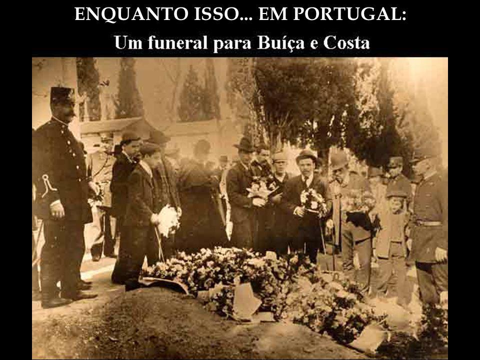 ENQUANTO ISSO... EM PORTUGAL: Assassinato do Rei D. Carlos I (regicídio) e de seu filho. 1 de fevereiro de 1908 Às 5 horas da tarde do dia 1.º de feve