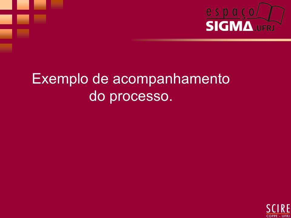 Exemplo de acompanhamento do processo.