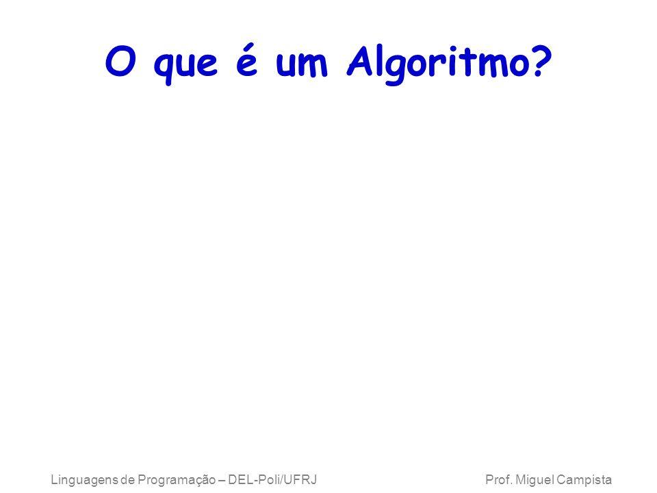 Linguagens de Programação – DEL-Poli/UFRJ Prof. Miguel Campista O que é um Algoritmo?