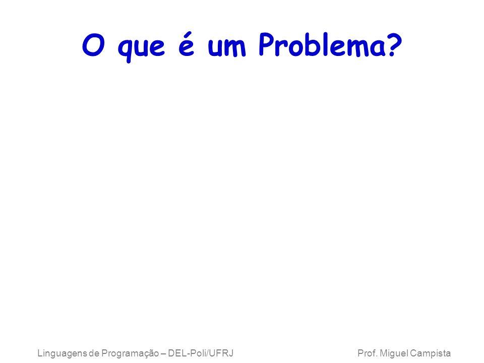 Linguagens de Programação – DEL-Poli/UFRJ Prof.Miguel Campista O que é um Problema.