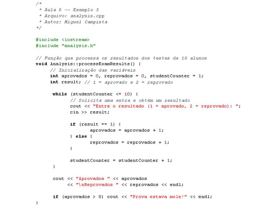 Linguagens de Programação – DEL-Poli/UFRJ Prof. Miguel Campista Décimo Primeiro Exemplo utilizando Classes em C++