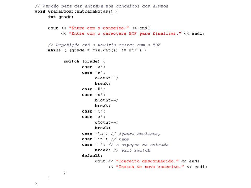 Linguagens de Programação – DEL-Poli/UFRJ Prof. Miguel Campista Décimo Terceiro Exemplo utilizando Classes em C++