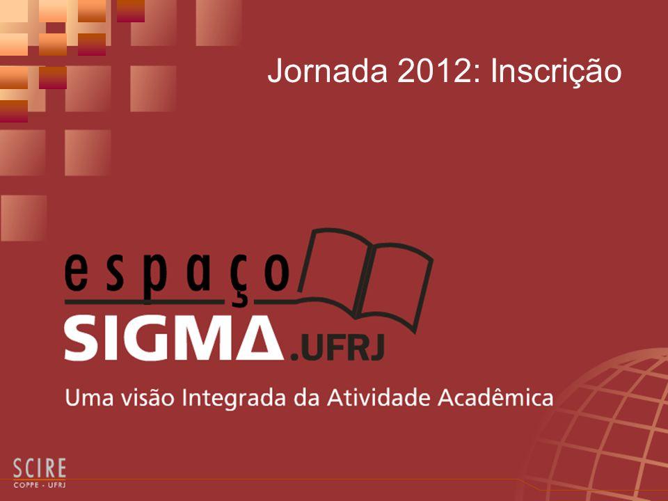 Jornada 2012: Inscrição