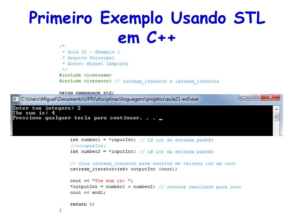 Primeiro Exemplo Usando STL em C++
