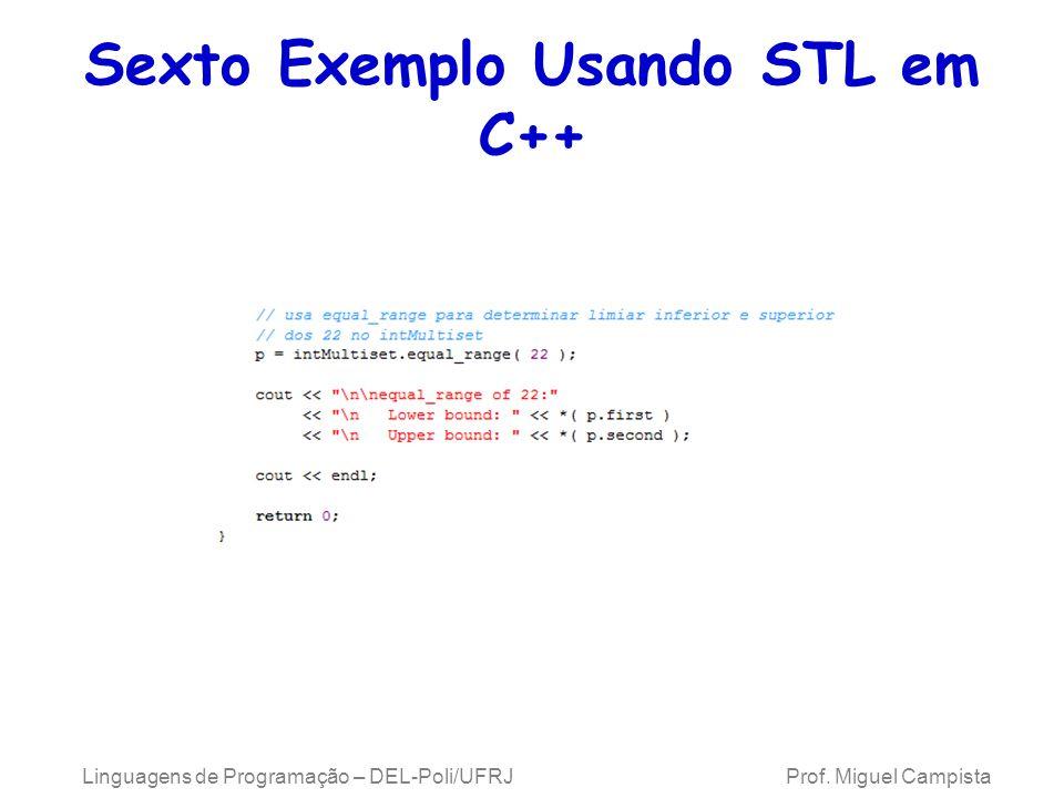 Linguagens de Programação – DEL-Poli/UFRJ Prof. Miguel Campista