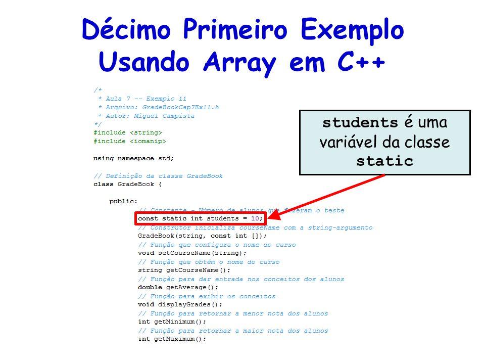 students é uma variável da classe static