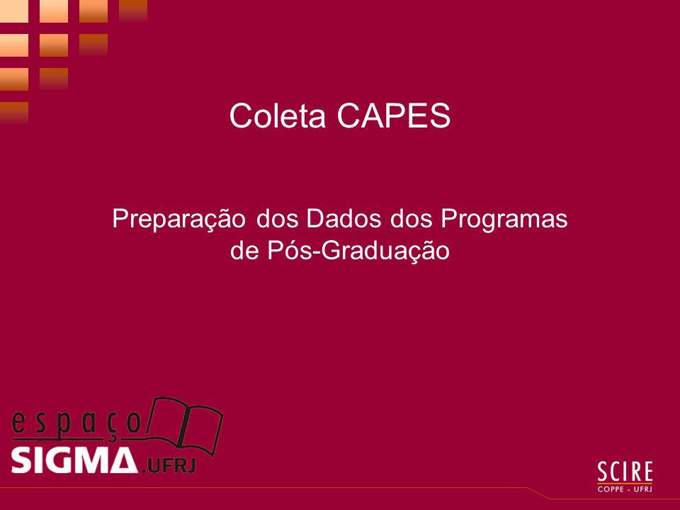 Coleta CAPES Preparação dos Dados dos Programas de Pós-Graduação