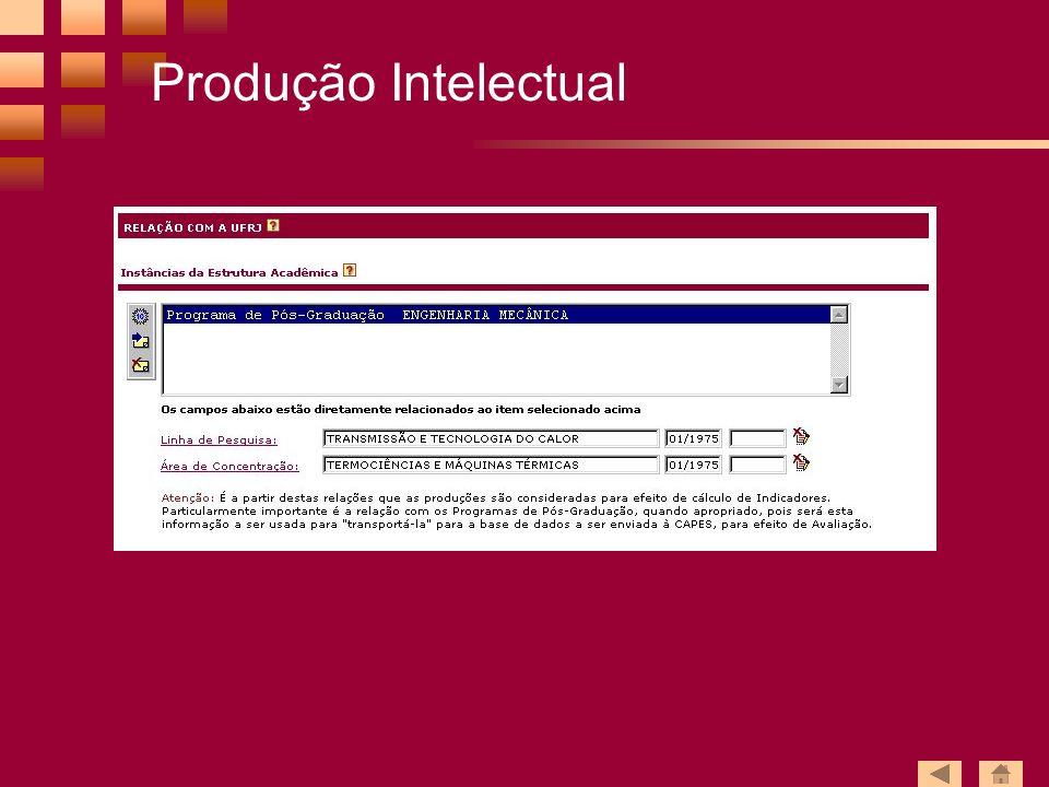 Produção Intelectual
