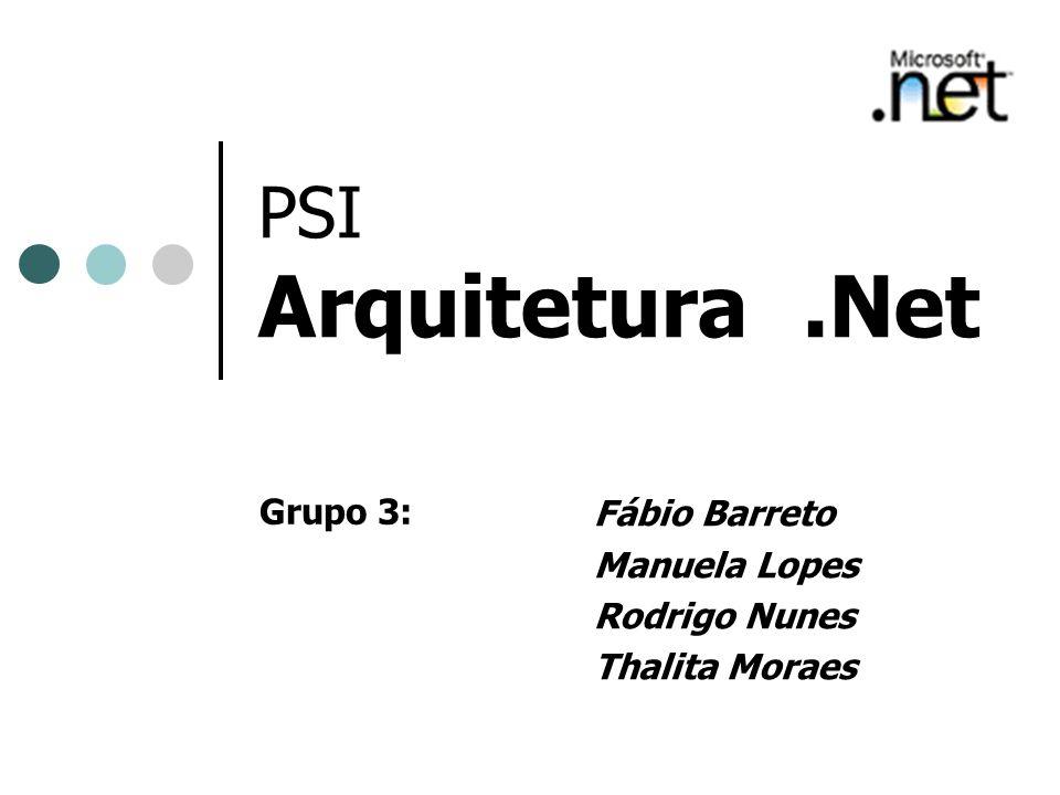 PSI Arquitetura.Net Fábio Barreto Manuela Lopes Rodrigo Nunes Thalita Moraes Grupo 3: