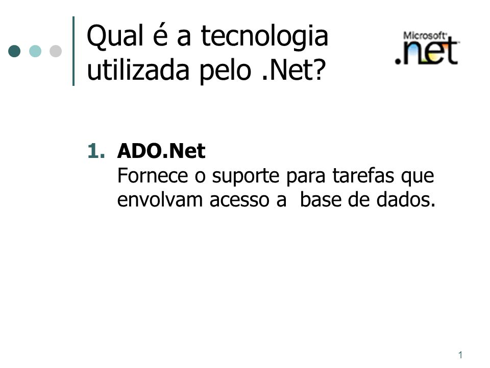 1 Grau de flexibilidade e adaptabilidade A Microsoft dispõe de inúmeras ferramentas e tecnologias criadas para tornar a plataforma.NET flexível e adaptável: Microsoft Windows® 2000 Server Windows 2000 Datacenter Server Microsoft SQL ServerTM 2000 Microsoft BizTalkTM Server 2000 Microsoft Application Center Server Digital Rights Management (DRM) Universal Description, Discovery, and Integration (UDDI)