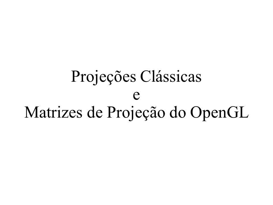 Projeções Clássicas e Matrizes de Projeção do OpenGL