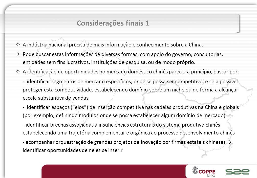 Reavaliar políticas vigentes e implementar medidas que aumentem a competitividade da industria de equipamentos de base no Brasil Estudar meios de fome