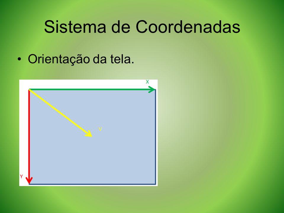 Sistema de Coordenadas Orientação da tela.