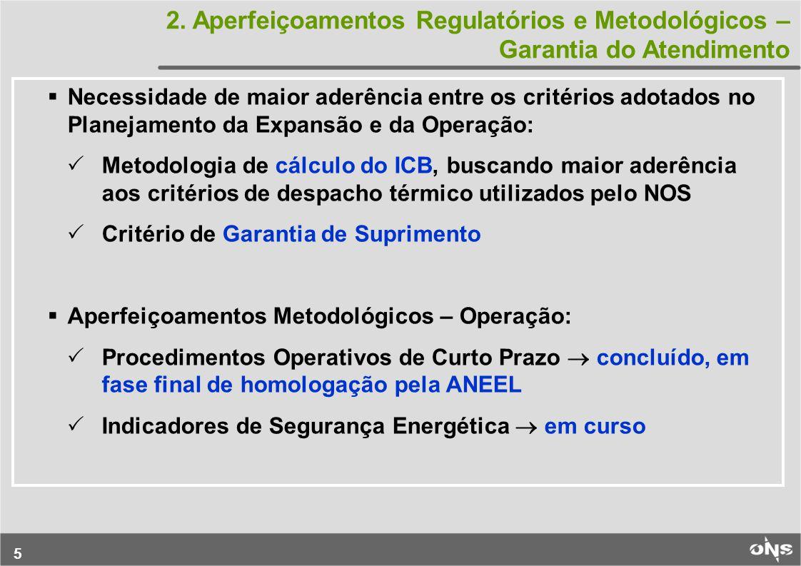 16 REGIÃO AMARELA Indicadores de Segurança Energética REGIÃO VERDE: condições de atendimento favoráveis, no ano considerado, sendo mantidas as políticas operativas regulares definidas pelos modelos de otimização do despacho.
