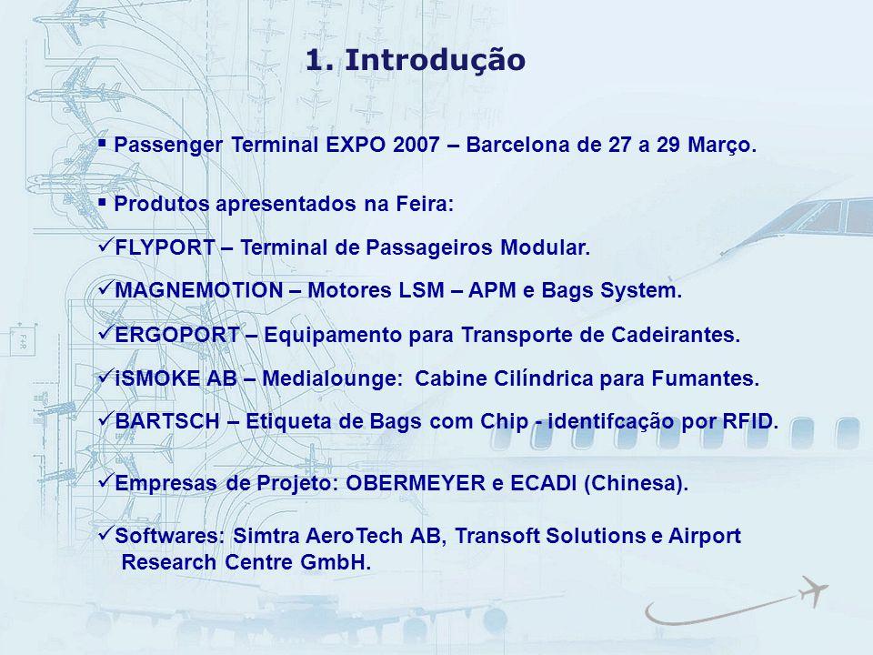 1. Introdução Passenger Terminal EXPO 2007 – Barcelona de 27 a 29 Março. Produtos apresentados na Feira: MAGNEMOTION – Motores LSM – APM e Bags System
