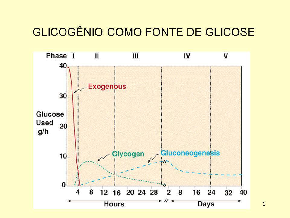 2 Glicogenólise Fosforilase do glicogênio ativa Glic. 1-P Enzima desramificadora