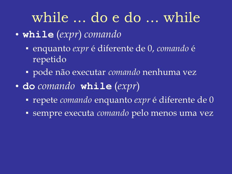while...do e do...