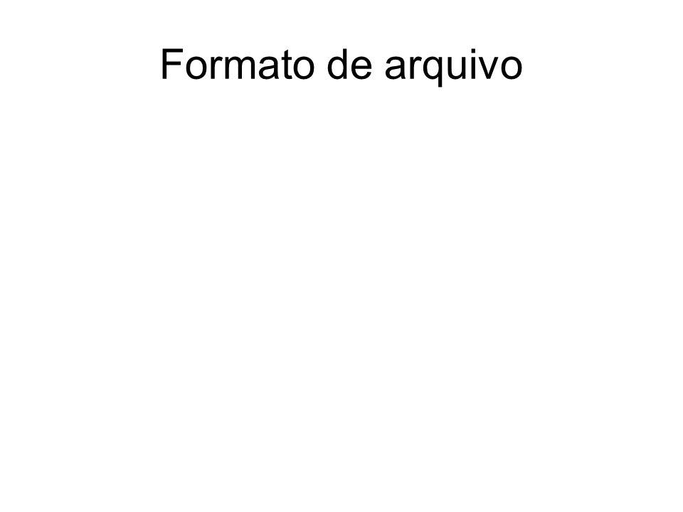 Formato de arquivo