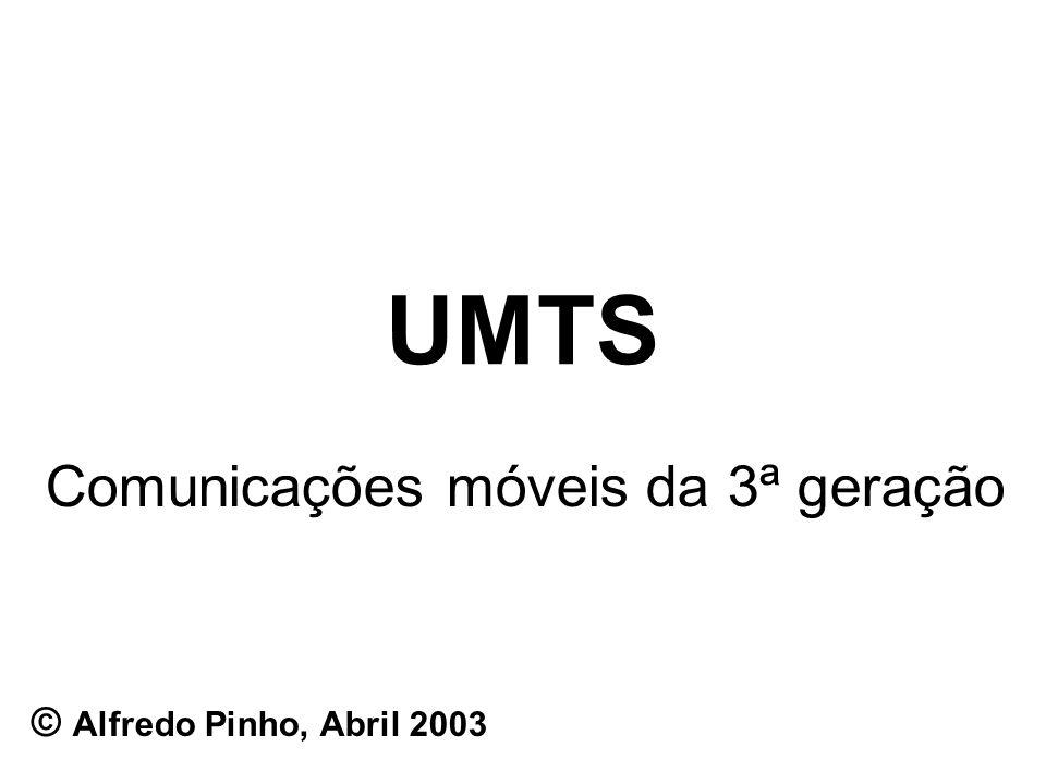 UMTS Comunicações móveis da 3ª geração © Alfredo Pinho, Abril 2003